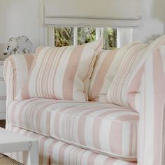Minnie Peters sofas covered in Ralph Lauren fabric -