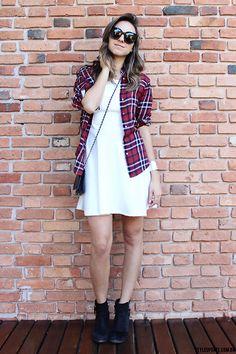 Zara Plaid Shirt., Ivana Cornelsen White Dress, Chanel Bag