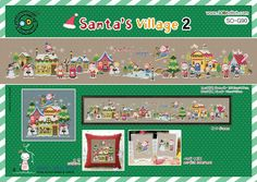 The Santa's village 2   Cross stitch pattern by GeniesCrossstitch