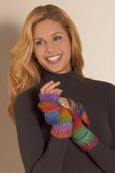 Marled Knit Gloves from Soft Surroundings