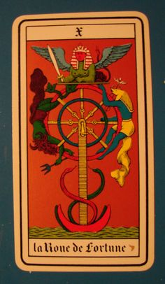 The Wheel of Fortune. Tarot Card.