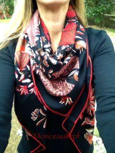 Hermes GM silk/cashmere shawl