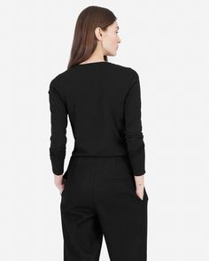 The Pima Stretch Long-Sleeve - Everlane