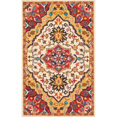 nuLOOM Handmade Native Floral Medallion Red Rug (4' x 6') | Overstock.com Shopping - The Best Deals on 3x5 - 4x6 Rugs
