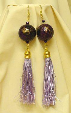 Kócos rojtok, különleges gyöngyök * Shaggy fringe, special beads Shaggy, Tassel Necklace, Tassels, Drop Earrings, Beads, Jewelry, Fashion, Jewerly, Beading