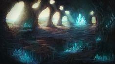 Crystal Cave by Henry Ledesma | Fantasy | 2D | CGSociety
