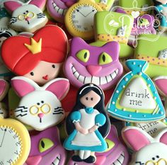 Alice Inspired Cookies by DolceCustomCookies on Etsy