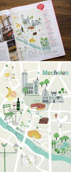 Cute map of Mechelen, by Leen