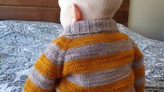 Ravelry: Elwood pattern by Jenny Wiebe Knitting For Kids, Baby Knitting Patterns, Free Knitting, Knitting Projects, Crochet Projects, How To Purl Knit, Baby Sweaters, Knit Sweaters, Bold Stripes