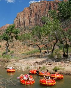 River Tubing, Zion National Park