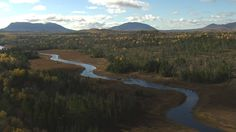 Baxter State Park , Maine. An aerial photo of the North Woods at sunrise.