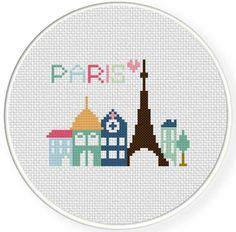 Paris Cross Stitch Pattern | Craftsy