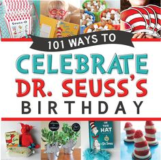 This is the ULTIMATE list of ways to celebrate Dr. Suess's birthday! We have included so many Dr. Seuss ideas including crafts, activities, recipes, printables, and SO much more!!!