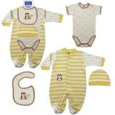 4-Piece Baby Owl Sleepwear Gift Set for 3-6 mos. $8.99