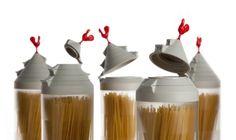 Емкости с крышками-дозаторами для спагетти 20замечательных вещиц для кухни