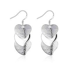 fonk Gloss Heart drop Earings silver plated earrings for women silver plated earrings SMTE191 -- You can get additional details at the image link. Note:It is Affiliate Link to Amazon.