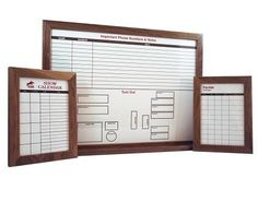 Yes, we make Custom Dry Erase Boards for businesses too! We've created several for horse boarding or training facilities, like this set of three custom boards.