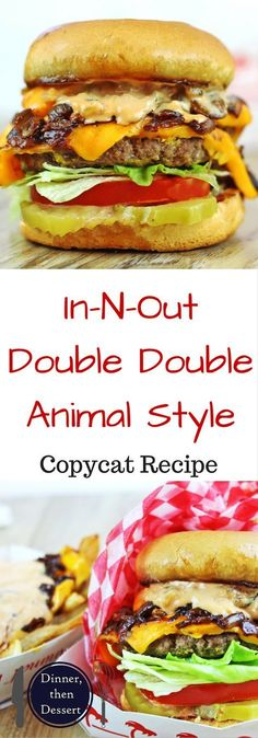burger recipes The burger that has become a legend, the In-N-Out Double Double - Animal Style, with a homemade fry sauce, caramelized onions and mustard grilled patty. The perfect GOOD fast food burger as decoded by Kenji from Serious Eats. Serious Eats, In And Out Burger, Best Fast Food Burger, Good Burger, Fast Food Burger Recipe, Simple Burger Recipe, Burger On Grill, Burger Patty Recipe, Best Burger Recipe