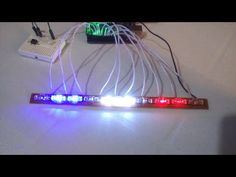 Police Light Bars, Led Light Bars, Iot Projects, Electronics Projects, Cool Things To Build, How To Make, Arduino, Police Lights, Electrical Wiring Diagram