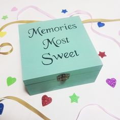 Colourful Memory Box - Make Memento   l gift ideas l gifts l gift for children l kids l children l best friend l birthday l christmas l girl l boy l baby l baby girl l baby boy l communion l child l newborn l christening l New parents l Baby Announcement l Gender Reveal l Naming Ceremony l Gift for newborn l Children's Birthday Gift l