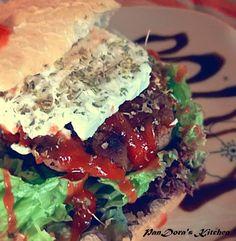PanDora's Kitchen: Greek edition Burger!Enjoy it!