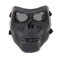 Online Military Training Faull Face Skeleton Skull Mask Halloween Costume Party Hunting for Halloween Gifts Idea Online Shopping for #Halloween Gifts Idea Shopping