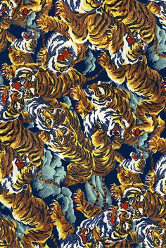 Wallpaper Background Aesthetic - snoıssǝrdmI sʎseǝh-x — amalgammaray: kenzo tiger print - Guests Wallpaper Textures Patterns, Print Patterns, Versace Vintage, Versace Wallpaper, Sean O'pry, Rene Magritte, Doja Cat, Gold Print, Tiger Print
