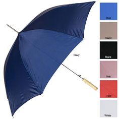 A RainWorthy 48-inch automatic umbrella will keep you dry on rainy days. This case of 24 umbrellas is a perfect office amenity for employees who forget to bring their own rain gear to work. These umbrellas are windproof for durability in harsh weather.