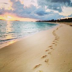 A sunset walk on the beach...heaven.