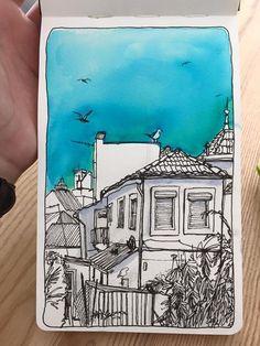 de vuelta con el cuaderno: A través de la ventana