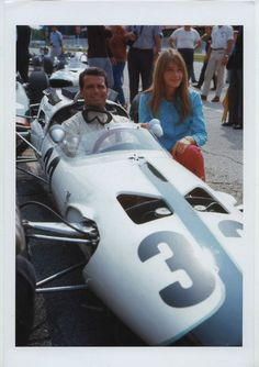 James Garner and Francoise Hardy 1966 Grand Prix