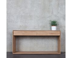 Ethnicraft Nordic Console with 2 Drawers - Solid Timber Furniture