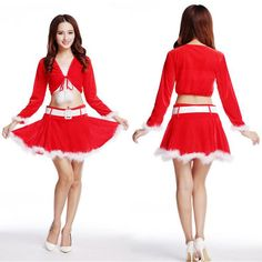 2016 Sexy Girls Women's XMAS Party Fancy Dress Christmas Costumes for Adult Ladies Red Santa Tops + Skirt Full Set Free Shipping♦️ B E S T Online Marketplace - SaleVenue ♦️👉🏿 http://www.salevenue.co.uk/products/2016-sexy-girls-womens-xmas-party-fancy-dress-christmas-costumes-for-adult-ladies-red-santa-tops-skirt-full-set-free-shipping/ US $18.99