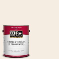 BEHR Premium Plus 1-gal. #pwn-33 Edwardian Lace Hi-Gloss Enamel Interior/Exterior Paint