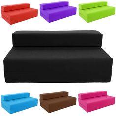 Block Filled Fold up Sofa Bed Z Guest Foam Futon Mattress In/Outdoor Gilda