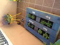 Pallet Garden & repurposed BBQ - I could put a moveable BBQ over the meter in yard.