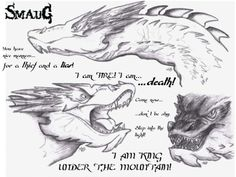 Here's a few beautiful sketches of Smaug the Terrible that Alex Bowman drew.