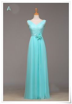 Tiffany Blue Lace Long dress bridal party for wedding style bride bridesmaids A $78.00
