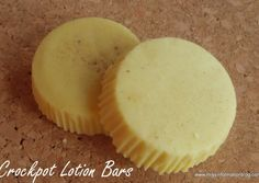 Make this copycat Lush Lotion Bar in your crockpot! Much safer than a double broiler and they really work | Great homemade Christmas gifts