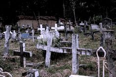 Colombia - Cementerio en Jesus Maria, pueblo situado al sur del departamento de Santander, en la provincia de Vélez.
