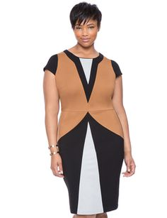 Maggie Colorblock Dress from eloquii.com