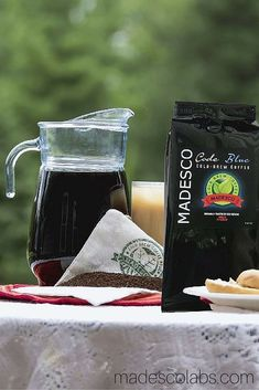 """Need a special coffee for cold brewing? Look no further because Madesco now carries """"Code Blue"""" Artisan Coffee for Cold Brewing. Cold Brew Coffee Recipe, Cold Brew Iced Coffee, Best Coffee, My Coffee, Coffee Recipes, Drink Recipes, Coffee Blog, Premium Coffee, Coffee Filters"""