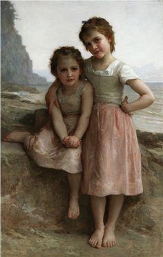 William Bouguereau - Soeurs sur la rive (1896)