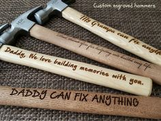 custom engraved hammer personalized hammer by socksandmonkeyhugs...