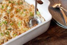 Potatoes Romanoff...a twist on twice baked potatoes. A new option to replace the tired old hashbrown casserole!
