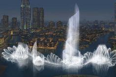 Worlds largest water fountain in Dubai dwarfs the Bellagio fountain