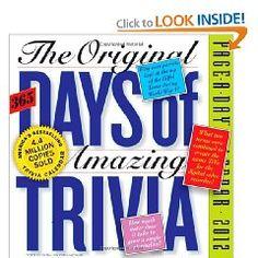 Original 365 Days of Amazing Trivia 2012 Calendar (Page a Day Calendar) $11.69