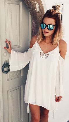 Little White Dress Boho Style by Caroline Receveur & Co