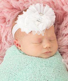 Look at this #zulilyfind! White Flower Headband #zulilyfinds