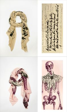 Cashmere printed scarves by We Are Owls